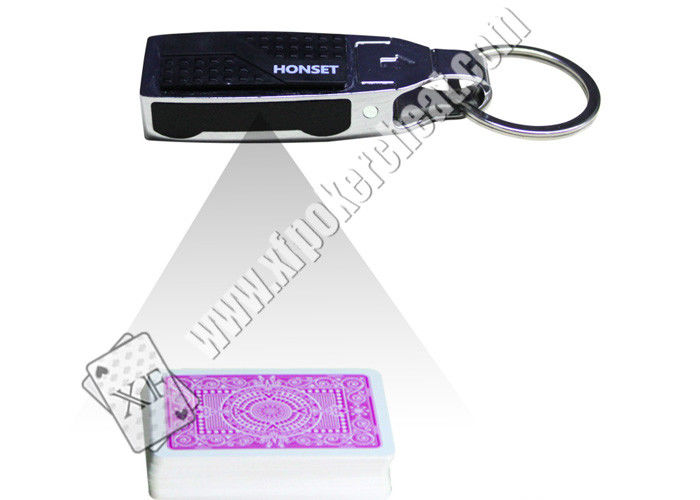 Silver / Black Key Chain Infrared Camera Poker Analyzer Texas Holdem Poker